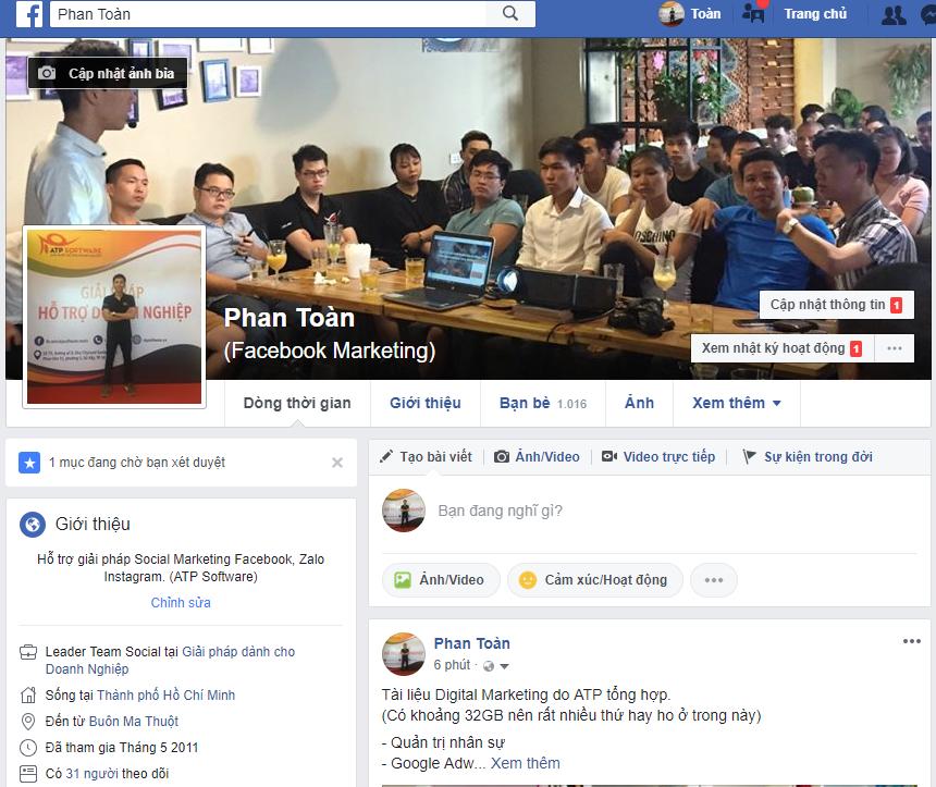 Capture 1 - Xây dựng profile trên Facebook bằng những cách nào?