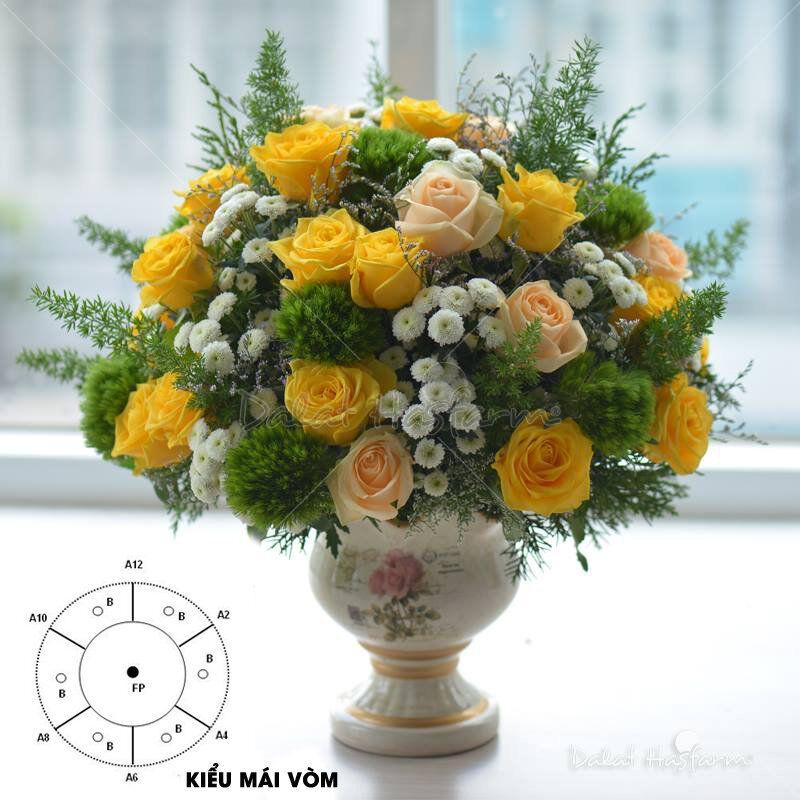 cach cam hoa hong khong kho nhung doi hoi nguoi cam dieu gi 3 - Cách cắm hoa hồng không khó nhưng đòi hỏi người cắm điều gì?